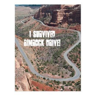 ¡Sobreviví la impulsión de Rimrock! Tarjeta Postal