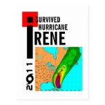 Sobreviví la postal de Irene del huracán