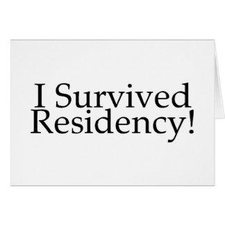 ¡Sobreviví la residencia! Tarjeta De Felicitación