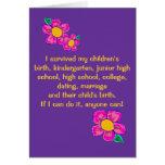 Sobreviví la tarjeta de felicitación del Parenting