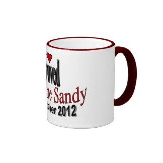 Sobreviví la taza de café de Sandy del huracán