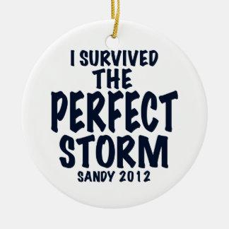 Sobreviví la tormenta perfecta, Sandy 2012, Adorno Navideño Redondo De Cerámica