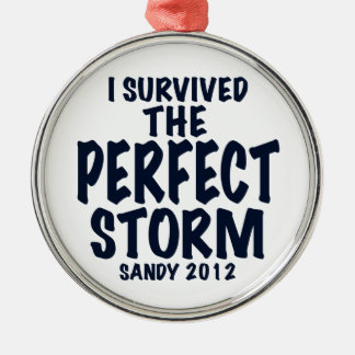 Sobreviví la tormenta perfecta, Sandy 2012, Adorno Navideño Redondo De Metal