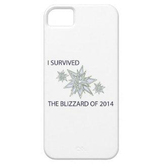 Sobreviví la ventisca de 2014 copos de nieve iPhone 5 carcasa