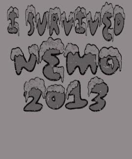 Sobreviví la ventisca de Nemo de la camiseta apena