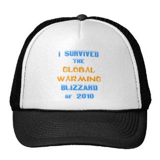 Sobreviví la ventisca del calentamiento del planet gorra