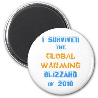 Sobreviví la ventisca del calentamiento del planet imán de frigorífico