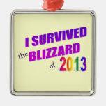 Sobreviví la ventisca del ornamento 2013 ornamento de navidad