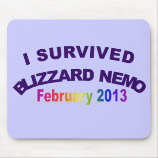 Sobreviví la ventisca Nemo Mousepad 2013 Alfombrilla De Raton