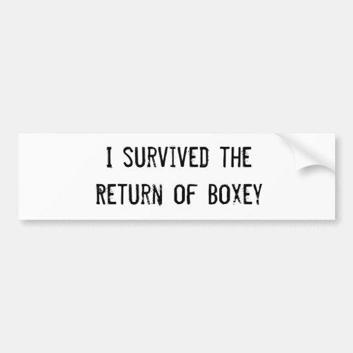 Sobreviví la vuelta de Boxey Etiqueta De Parachoque