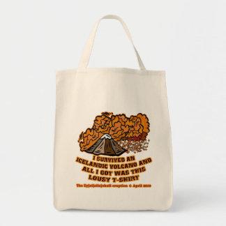 Sobreviví las camisetas y las tazas de un volcán bolsa de mano