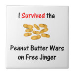 Sobreviví las guerras de la mantequilla de cacahue teja  ceramica