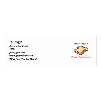 Sobreviví las guerras de la mantequilla de cacahue tarjeta de visita