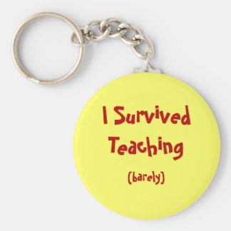 Sobreviví llavero de enseñanza