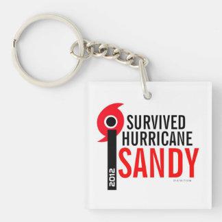 Sobreviví llavero del mapa de Sandy del huracán