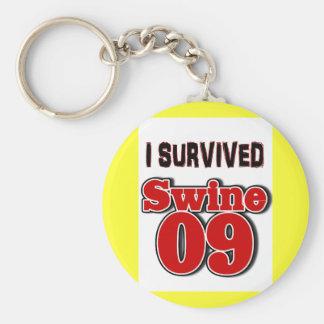 Sobreviví los cerdos 09 llavero redondo tipo pin