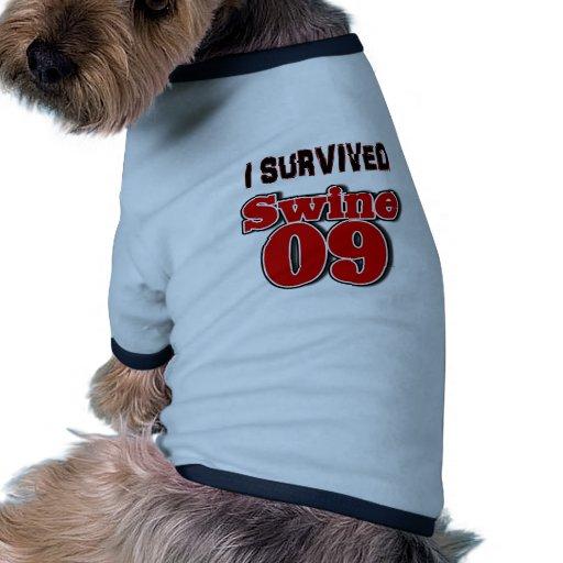 Sobreviví los cerdos 09 camiseta con mangas para perro
