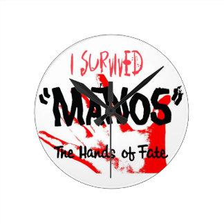 ¡Sobreviví Manos - el reloj! Reloj Redondo Mediano