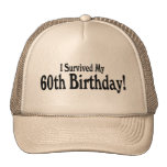 Sobreviví mi 60.o cumpleaños gorra