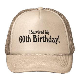 Sobreviví mi 60.o cumpleaños gorro