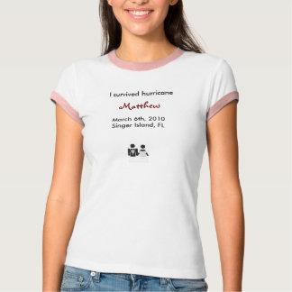 Sobreviví mi boda (la camiseta de las mujeres) playera