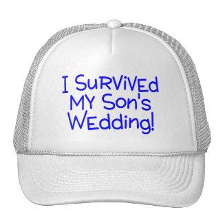 Sobreviví mi casarse de los hijos (el azul) gorro de camionero