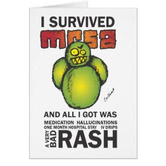 Sobreviví MRSA Tarjeta De Felicitación