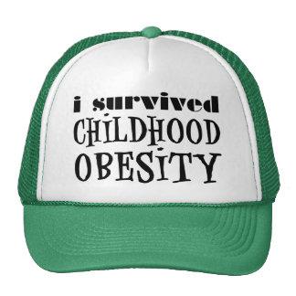 Sobreviví obesidad de la niñez gorra
