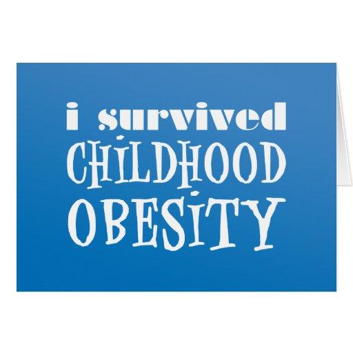 Sobreviví obesidad de la niñez tarjeta de felicitación