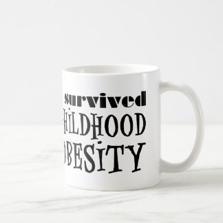 Sobreviví obesidad de la niñez tazas de café