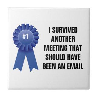 Sobreviví otra reunión que debe haber sido a azulejo cuadrado pequeño