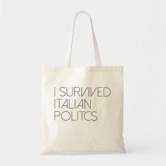 Sobreviví política italiana bolsa tela barata