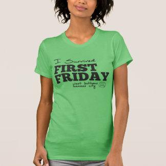 Sobreviví primer viernes - partes inferiores del camiseta