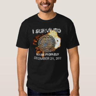 Sobreviví profecía el 12 de diciembre de 2012 maya playera