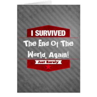 Sobreviví Tarjeta De Felicitación