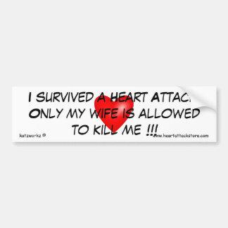 Sobreviví un ataque del corazón pegatina para auto