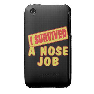 SOBREVIVÍ UN TRABAJO DE NARIZ Case-Mate iPhone 3 CARCASA