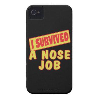 SOBREVIVÍ UN TRABAJO DE NARIZ iPhone 4 CARCASA