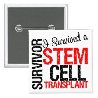 Sobreviví un trasplante de la célula madre (rojo) pin cuadrada 5 cm