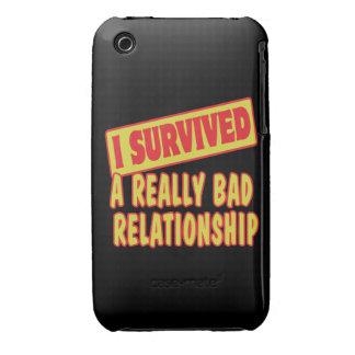 SOBREVIVÍ UNA RELACIÓN REALMENTE MALA Case-Mate iPhone 3 FUNDAS
