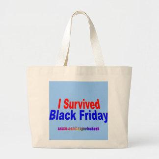 ¡Sobreviví viernes negro! Bolsa Tela Grande