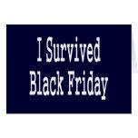 ¡Sobreviví viernes negro! Diseño blanco del texto Felicitacion