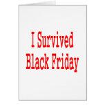 ¡Sobreviví viernes negro! En texto rojo Felicitaciones