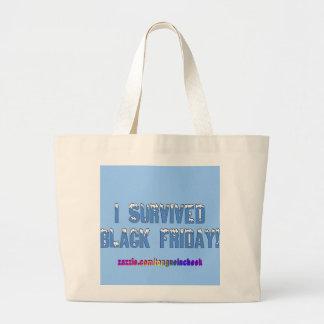 ¡Sobreviví viernes negro! Fuente de Snowcap Bolsa Tela Grande
