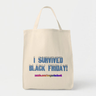 ¡Sobreviví viernes negro! Fuente de Snowcap Bolsa Tela Para La Compra