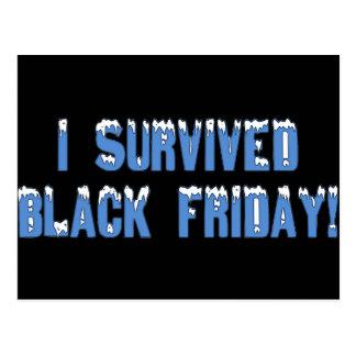¡Sobreviví viernes negro! Fuente de Snowcap Tarjeta Postal