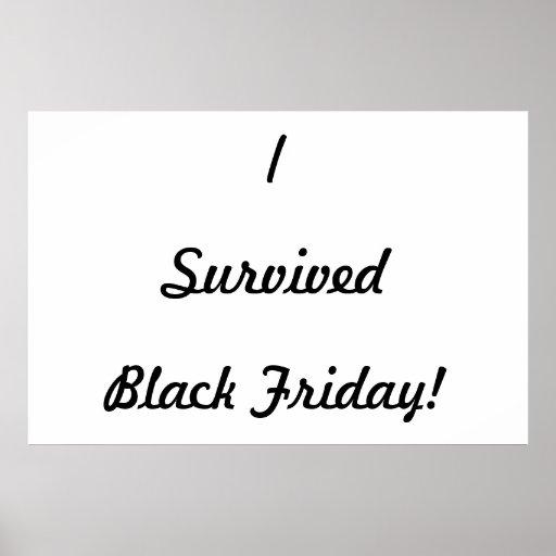 ¡Sobreviví viernes negro! Impresiones