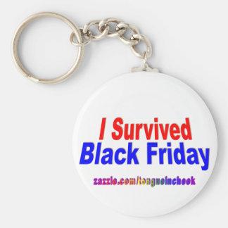 ¡Sobreviví viernes negro! Llavero Redondo Tipo Pin