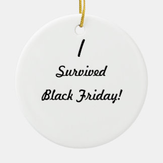 ¡Sobreviví viernes negro Ornamento De Reyes Magos