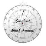 ¡Sobreviví viernes negro! Tablero Dardos